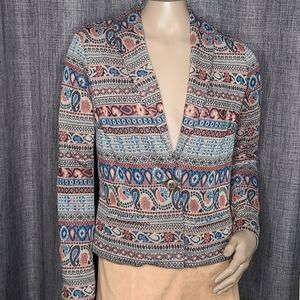 Forever 21 blazer paisley print small multicolored